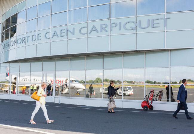 Façade de l'aéroport de Caen