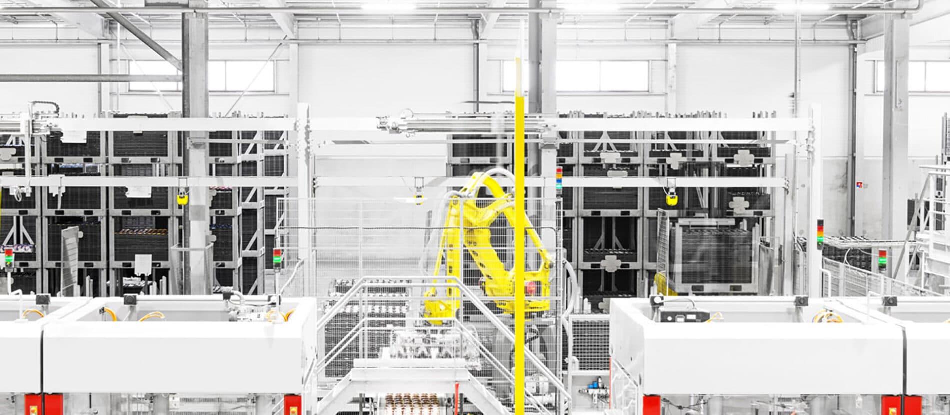 Machines dans une usine
