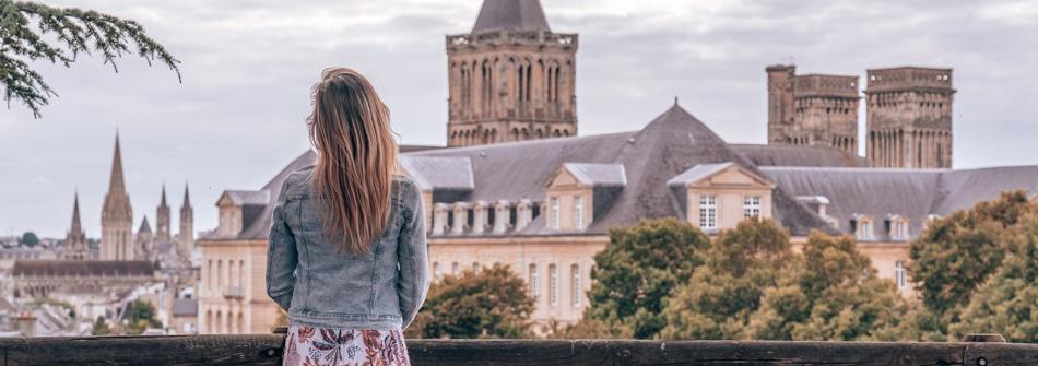 Vue Sur Caen Depuis L Abbaye Aux Dames