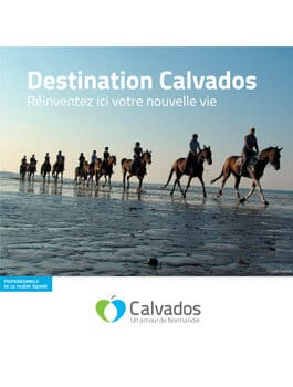 Brochure de présentation à destination des professionnels de la filière équine souhaitant s'installer dans le Calvados